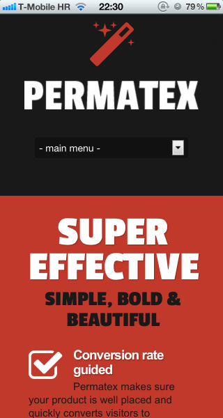 Permatex - Leads Generating WordPress Landing Page